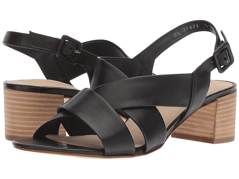 Paul Green Reese Sandal (Black Leather) Women