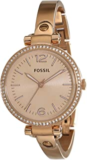 Fossil Georgia Analog Rose Gold Dial Rose Gold Stainless Steel  Watch for  Women - ES3226