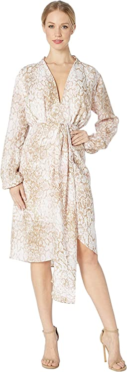 Arista Drape Front Long Sleeve Dress