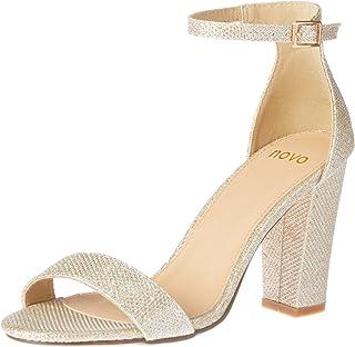 Novo Women's Glittery Strappy High Heel