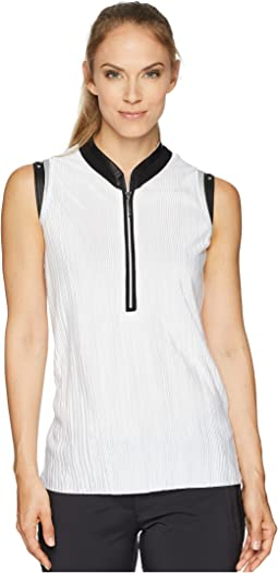 Crunchy Textured Sleeveless Top