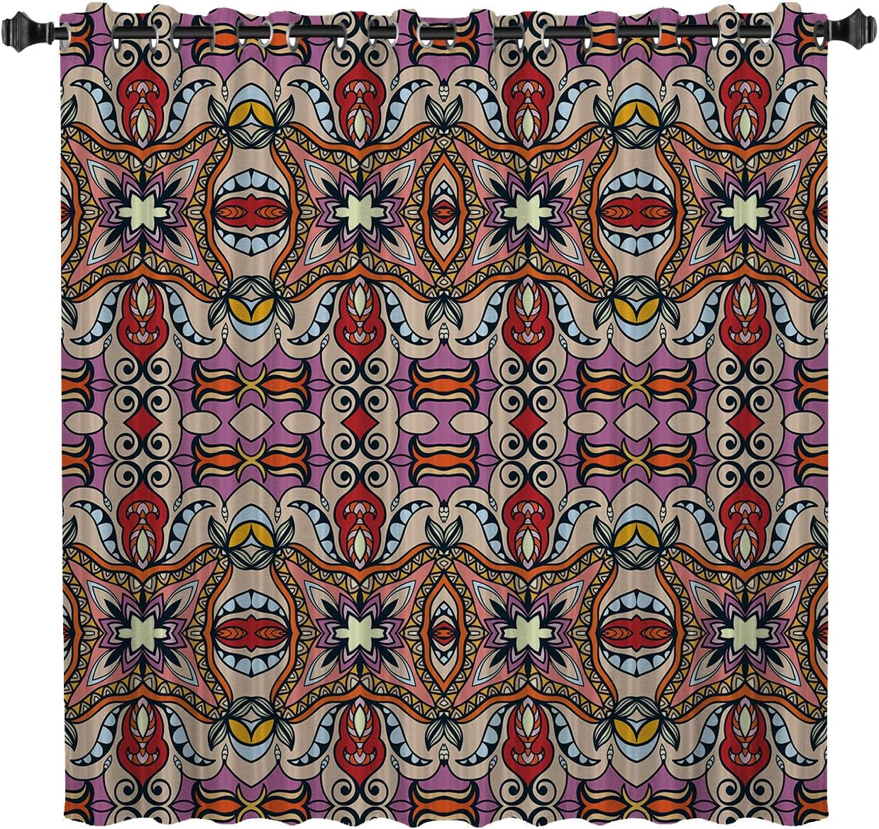 BedSweet Blackout Max 63% OFF Room All items in the store Darkening Mysterious Pa 52x90in Curtains