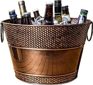 BREKX Old Tavern Copper Finish Beverage Bucket & Wine Chiller- 15 Quart