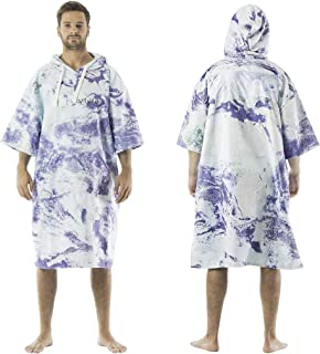 Poncho Towel with Hood for Changing, Quick Dry Fabric and Easy Access to Underarms, Large Pocket, for The Beach, Surf