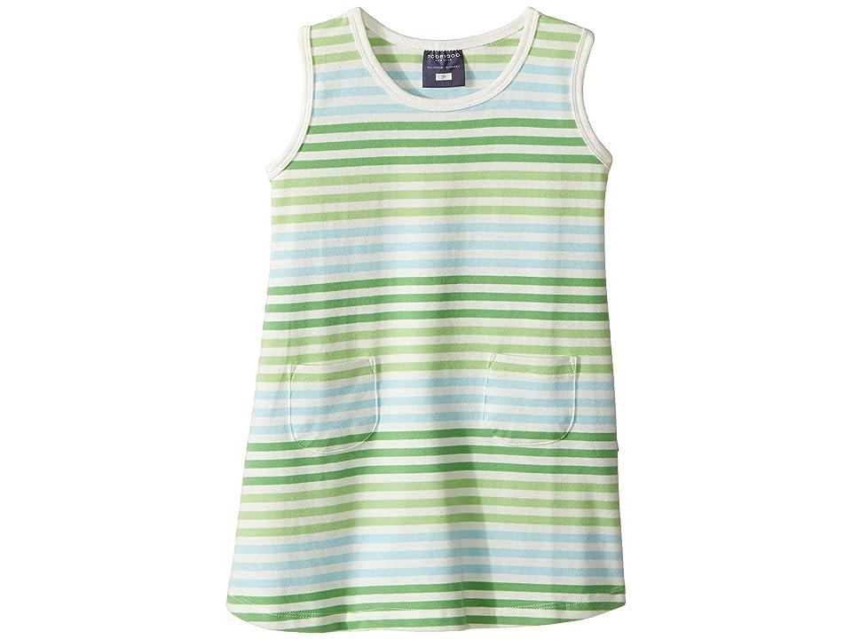 Toobydoo Tank Top Pocket Dress (Infant/Toddler) (Green/Blue/White) Girl