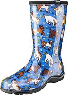 Sloggers Women's Waterproof Rain and Garden Boot with Comfort Insole, Goats Sky Blue, Size 8, Style 5018GOBL08