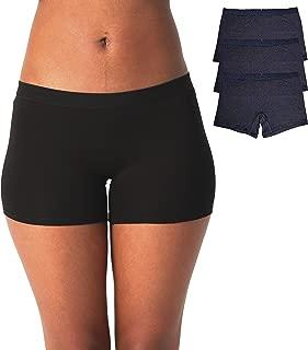 Women's Boyshort Panties Viscose Underwear Pack of 3
