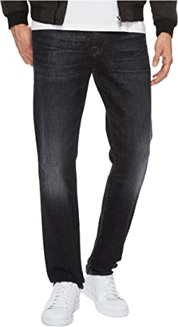 7 For All Mankind Slimmy Slim Straight w/ Clean Pocket in All Nighter