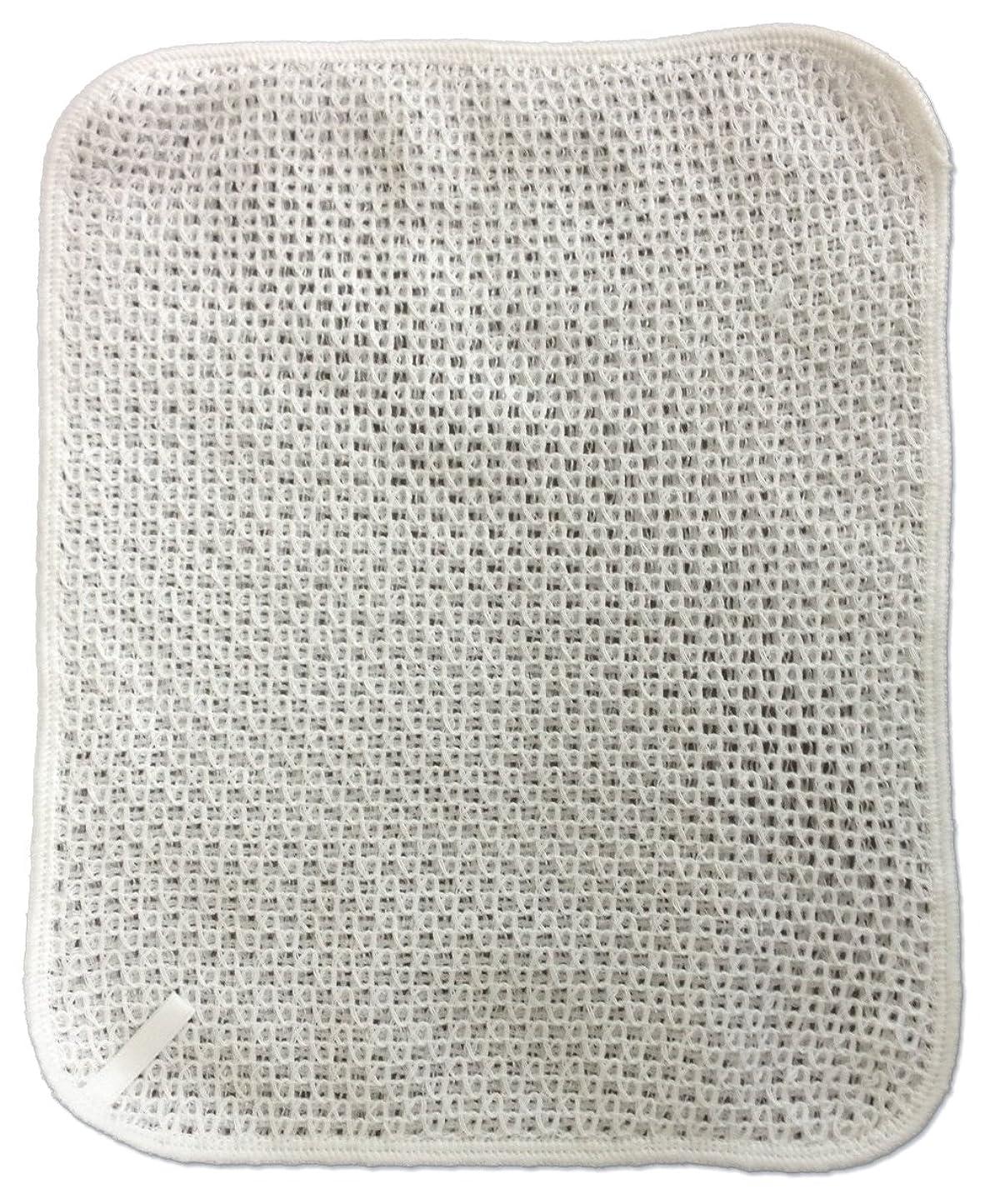 法律により崇拝する崇拝するボディタオル 泡ソフト コットン ハンディー 綿 白 約19×24cm
