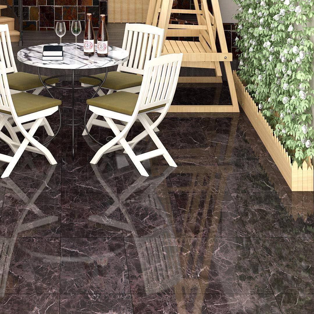 Buy Livelynine Peel And Stick Floor Tile Black Marble Vinyl Flooring Tile Stickers For Kitchen Backsplash Bedroom Laundry Stairs Waterproof Floor Tiles 12x12 Inch 16 Pack Online In Vietnam B088nfvnsk