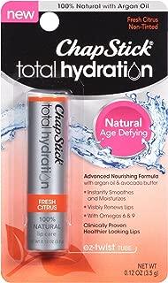ChapStick Total Hydration Lip Care Balm, Fresh Citrus 0.12 oz ( Pack of 3)
