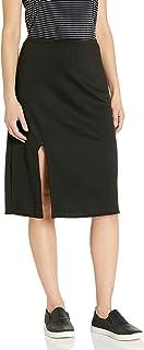 Star Vixen Women's Mid Length Front Slit Full Skirt