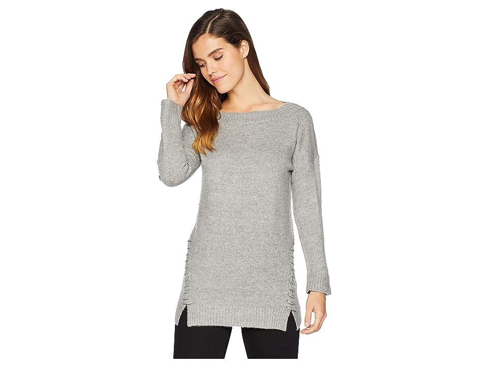 Bishop + Young Side Stitch Sweater (Heather Grey) Women