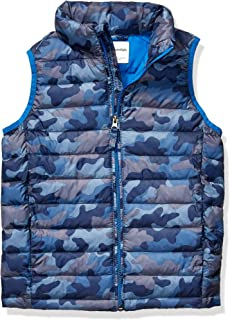 Amazon Essentials Boys' Lightweight Water-Resistant Packable Puffer Vest Niños