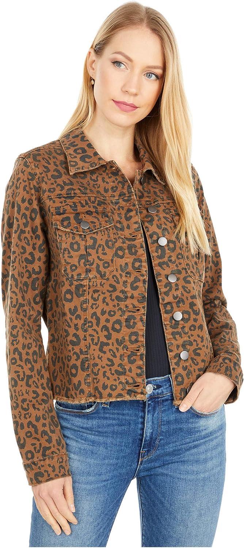 KUT from the Kloth Kara Denim Jacket with Frayed Hem