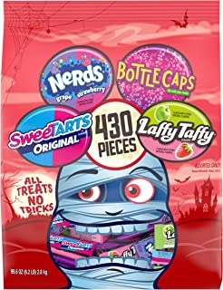 All Treats No Tricks Halloween Variety Candy, Bottlecaps, Laffy Taffy, SweeTARTS & Nerds, 430 Count