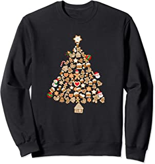 Gingerbread Man Christmas Tree Gingerbread Decor Xmas Gift Sweatshirt