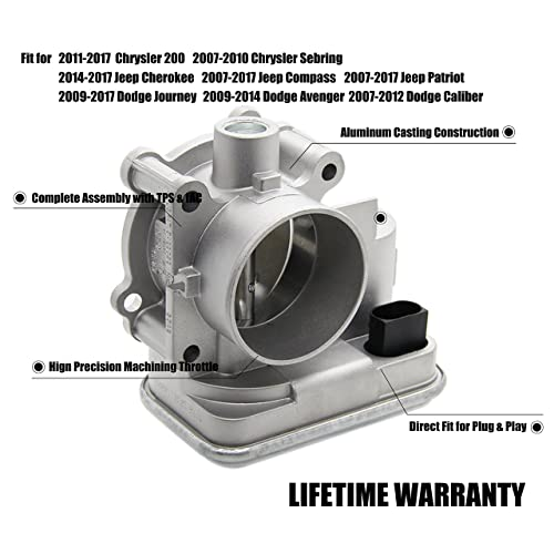 04891735AC Complete Electronic Throttle Body Assembly with IAC TPS for Dodge Avenger Caliber Journey Chrysler 200