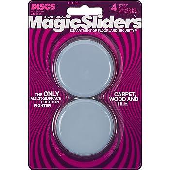 "Magic Sliders 04060 4 Pack 2 3//8/"" Round Sliding Discs"