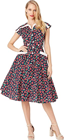 1950s Style Cap Sleeve Hedda Swing Dress