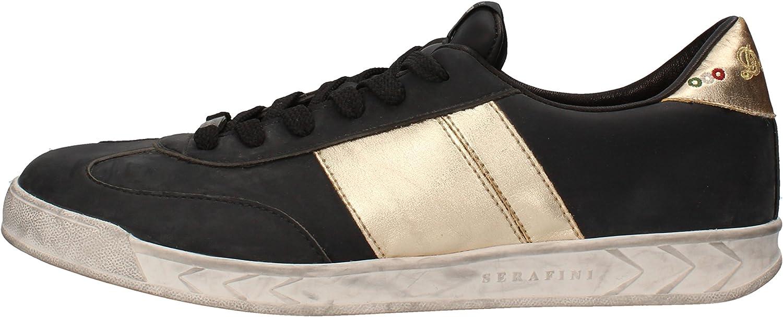 SERAFINI Fashion-Sneakers Mens Leather Black