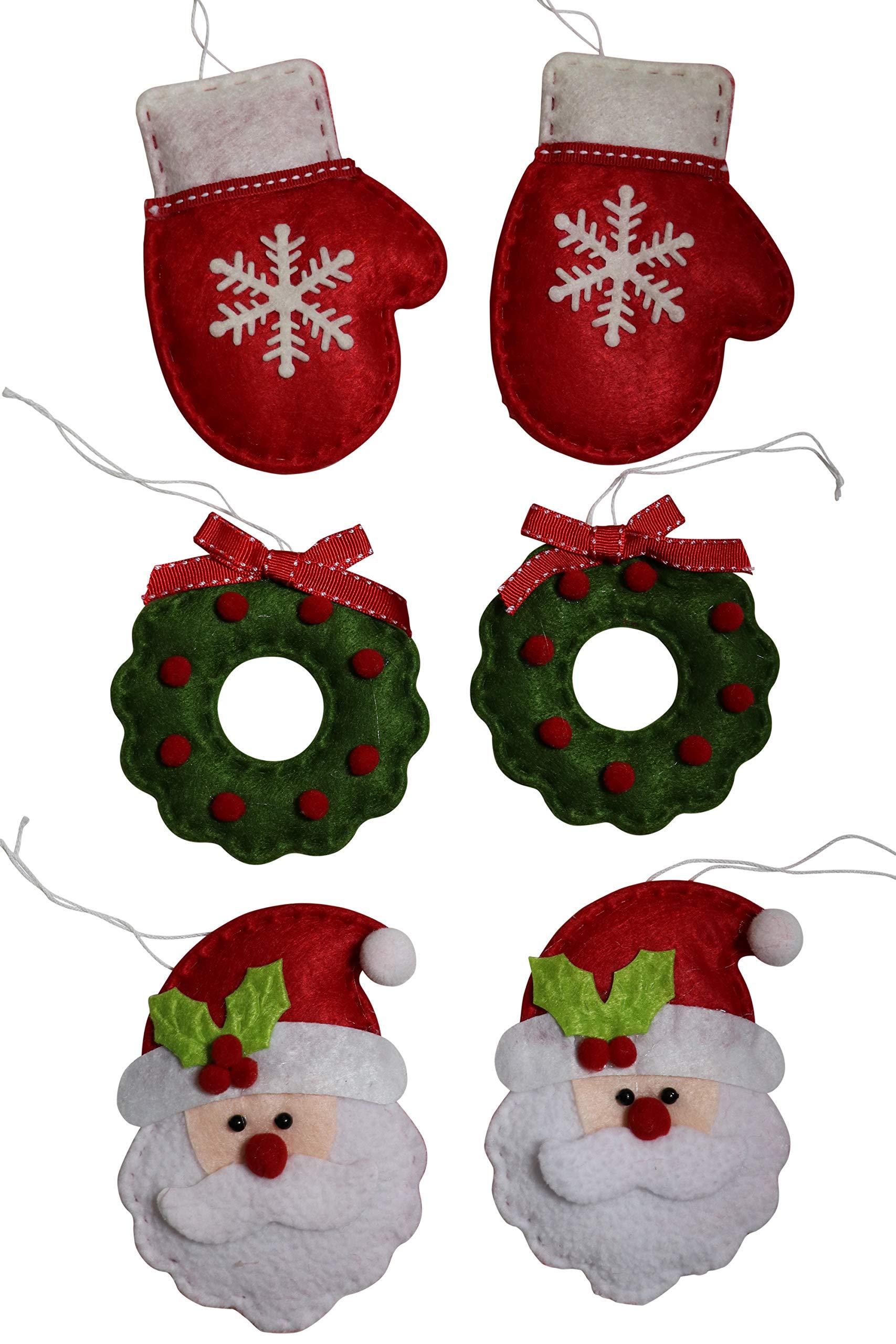 Image of Felt Christmas Tree Ornament Set