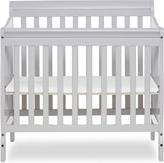 gray mini crib