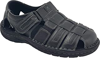 LABO Men's Genuine Leather Sandals Shoes Ultra Comfort Soft Wide