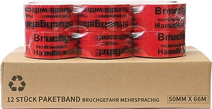 Plakband | verpakkingstape | pakketband met opmerking op tape (risico op breuk - let op niet gooien - voorzichtig breekbaa...