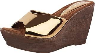 Catwalk Women's Metallic Slip On Wedges