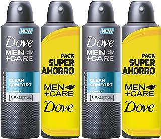 Dove Men Pack Ahorro Desodorante Clean Comfort - 2 packs de 2 x 200 ml