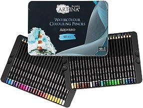 Artina Aquarilo ołówki akwarelowe zestaw 48 szt. FSC® zestaw ołówków kredki nietłukące się i wysoce pigmentowane rozpuszcz...