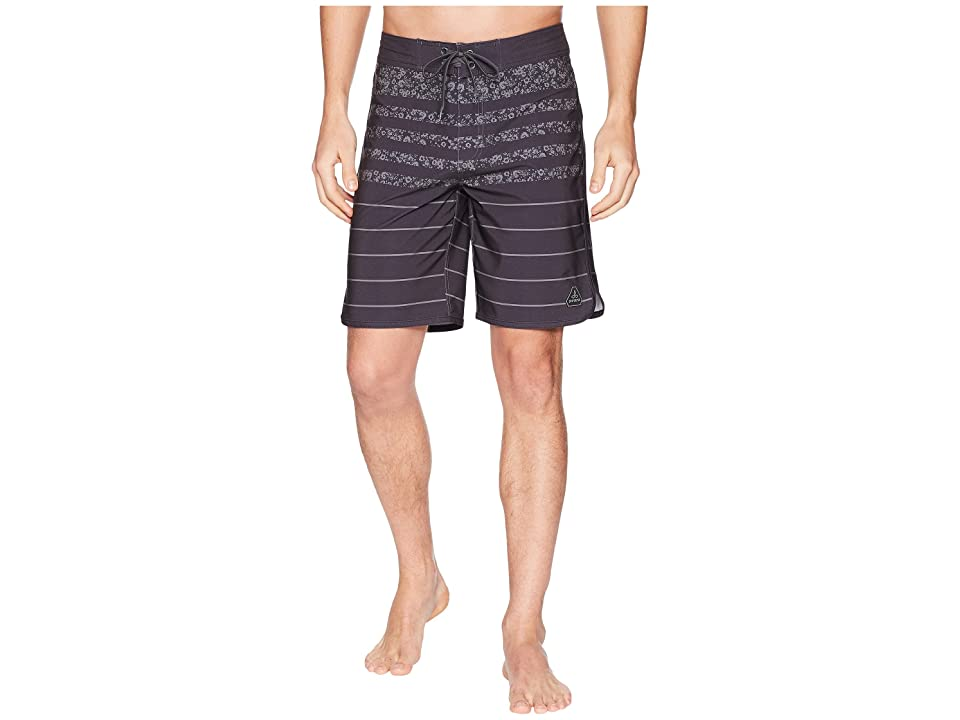Prana High Seas Shorts (Black Field Stripe) Men