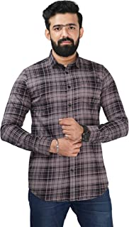 Color Play Men's 100% Cotton Slim Fit Coudroy Checks Casual Full Sleeves Shirt