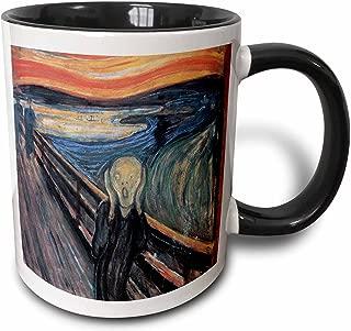 3dRose 130172_4 The The Scream By Edvard Munch Mug, 11 oz, Black