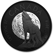 2018 CA Canada 1 oz Silver $20 Nocturnal By Nature: The Howling Wolf 1 OZ Brilliant Uncirculated