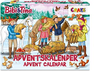CRAZE Kalendarz adwentowy BIBI & Tina kalendarz bożonarodzeniowy B&T dla dziewczynek kalendarz zabawkowy 2021 kreatywne tr...