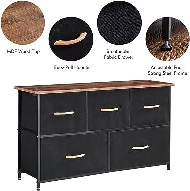 Dresser Storage Organizer, 5 Drawer Dresser Tower Unit for Bedroom Hallway Entryway Closets,Organizer Unit for Bedroom, Hallw