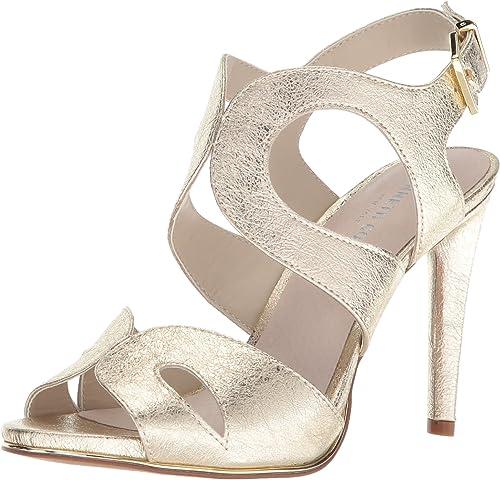 Kenneth Cole New York damen& 039;s Baldwin Stiletto Heel Dress Sandal Heeled, Soft Gold, 8.5 M US