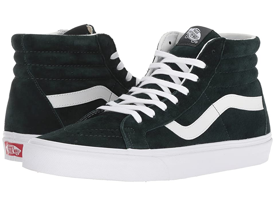 Vans SK8-Hi Reissue ((Pig Suede) Darkest Spruce/True White) Skate Shoes