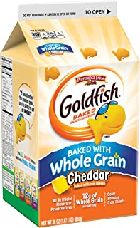Pepperidge Farm, Goldfish, Baked with Whole Grain, Crackers, Cheddar, 30 oz., Carton, 6-count