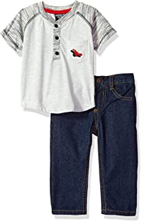 American Hawk Baby Boys Polo Shirt and Jean Set