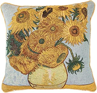 Signare Van Gogh Artist Tapestry Double Sided Square Throw Pillow Cover 18