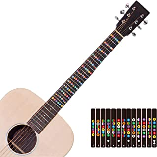Guitar fret stickers Color Coded Fretboard Fret Map Guitar Note Stickers for Beginner to Advanced