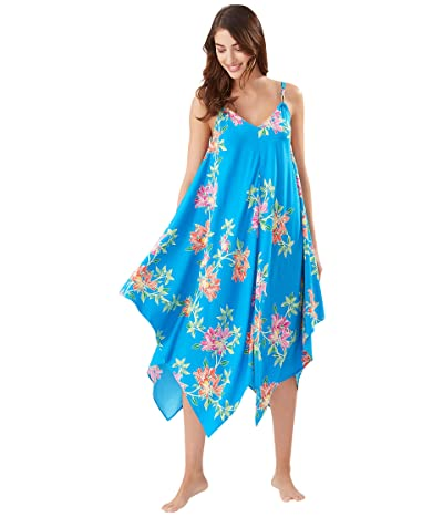 Tommy Bahama Sun Lilies Double Strap Scarf Dress (Azure Blue) Women