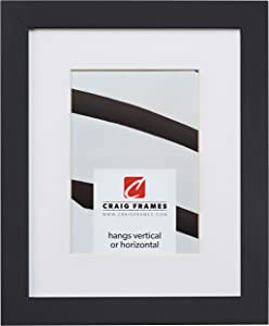 Craig Frames Essentials, Modern 1-Inch Wide 22 x 28 Inch Black Picture Frame Matted to Display an 18 x 24 Inch Photo