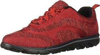 Propet Women's TravelActiv Aero Sneaker, Red, 7 Narrow