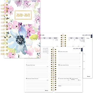 Blueline Weekly/Monthly Academic Planner, 13-Month, July 2020 to July 2021, Twin-Wire Binding, Trilingual, Poly Cover, 8 X...