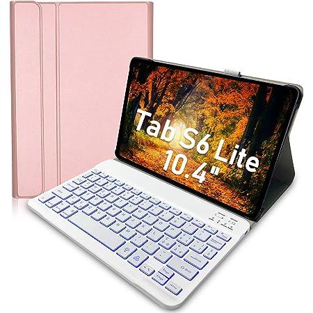 SM-P610//P615 Custodia con Tastiera retroilluminata per Samsung Galaxy Tab S6 Lite 10.4 Tablet 2020 Upworld Tastiera Senza Fili Staccabile con Cover in PU per Samsung Tab S6 Lite 10.4 7 Colori