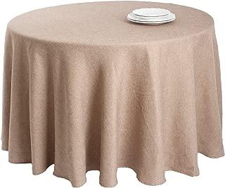 SARO LIFESTYLE 9113.N90R Basket Weave Design Tablecloth, Natural, 90